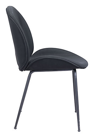 Miles  Dining Chair (Set of 2) Black, Black, large