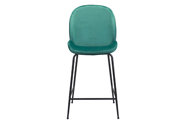 Miles Counter Chair Green, Green, large