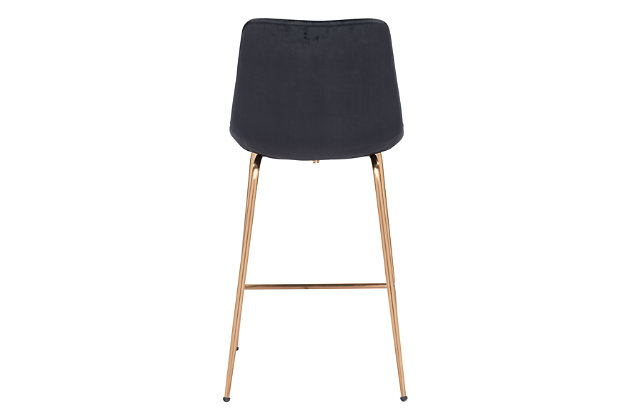 Tony Counter Chair Black And Gold, Black/Gold, large