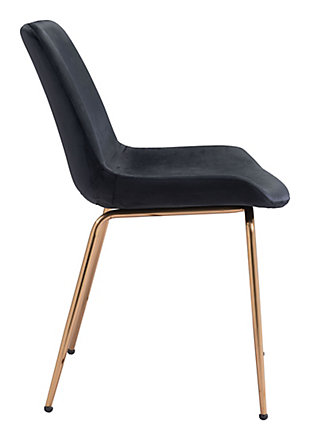 Tony Dining Chair (set Of 2) Black And Gold, Black/Gold, large