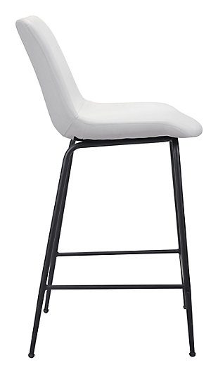 Byron  Counter Chair White, White, large