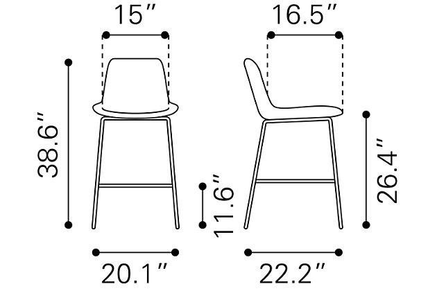 Byron Counter Chair White, White, large