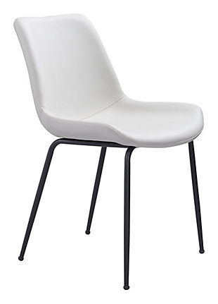 Byron Dining Chair (set Of 2) White, White, large