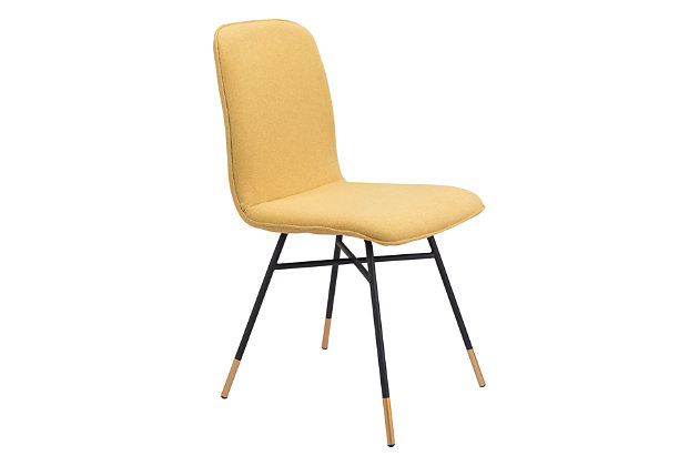 Var Dining Chair (Set of 2) Yellow, Yellow, large