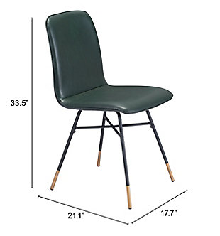 Var Dining Chair (Set of 2) Green, Green, large