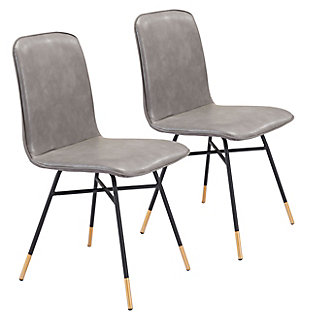 Var Dining Chair (Set of 2) Gray, Gray, large