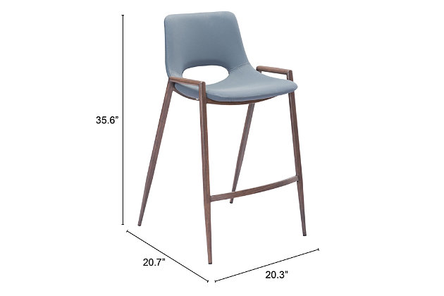 Desi Counter Chair (set Of 2) Gray, Gray, large