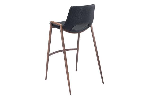 Desi Bar Chair (set Of 2) Black, Black, large