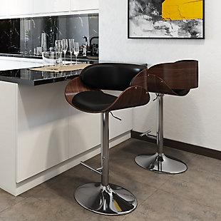 Amery Mid Century Modern Adjustable Swivel Bar Stool, , rollover