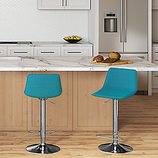 Hopkins  Contemporary Modern Adjustable Bar Stool, , rollover
