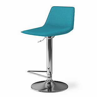 Hopkins  Contemporary Modern Adjustable Bar Stool, , large