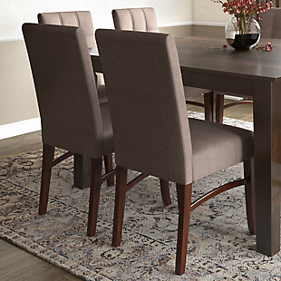 Ezra  Contemporary Deluxe Dining Chair (Set of 2), , rollover