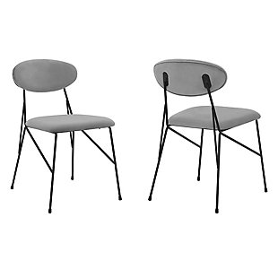 Alice Modern Velvet and Metal Dining Room Chairs - Set of 2, , large