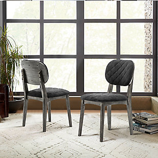 Katelyn River Open Back Dining Chair - Set of 2, Gray, rollover