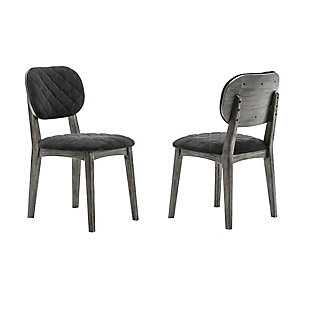Katelyn River Open Back Dining Chair - Set of 2, Gray, large