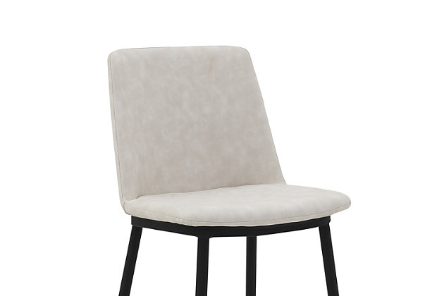 """Messi 26"""" Modern Faux Leather and Metal Counter Height Bar Stool, Cream, large"""