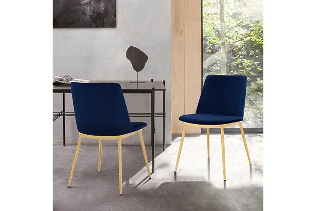 Messina Modern Velvet Dining Room, Ashley Furniture Blue Dining Room Chairs