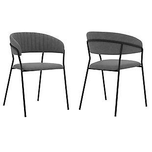 Nara Dining Chairs (Set of 2), Black/Gray, large