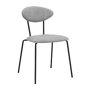 Neo Modern Gray Velvet and Gold Metal Leg Dining Room Chairs - Set of 2, Gray, large