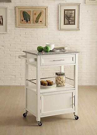 Mitchell Kitchen Cart with Granite Top, , rollover