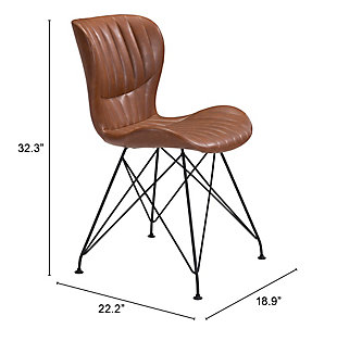 Gabby Dining Chair (Set of 2), Vintage Brown, rollover