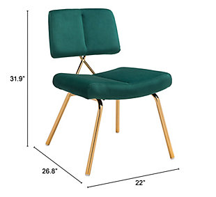 Nicole Dining Chair (Set of 2), Green, rollover