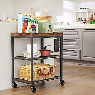 VASAGLE Kitchen Serving Cart, , rollover