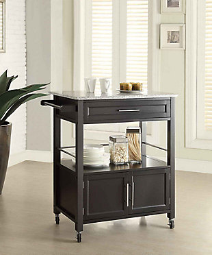 Cameron Kitchen Cart with Granite Top, , rollover
