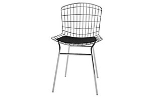 Manhattan Comfort Madeline Chair in Silver and Black, Silver/Black, large