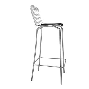Manhattan Comfort Madeline Barstool in Silver and Black, Silver/Black, large
