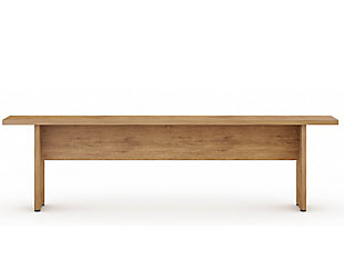 Manhattan Comfort NoMad Dining Bench in Nature, , large