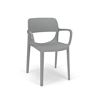 HON Basyx Prodigy Commercial-Grade 2-Pack Stackable Chair with Arms, in Platinum Gray, Charcoal, large