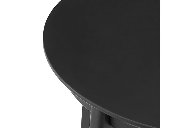 """Euro Style Atle 36"""" Round Dining Table in Matte Black, Black, large"""