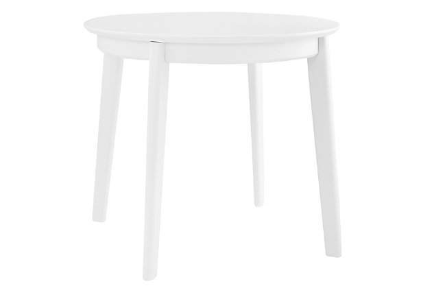 """Euro Style Atle 36"""" Round Dining Table in Matte White, White, large"""