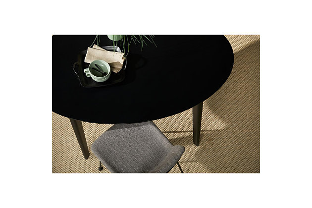 """Euro Style Atle 54""""x34"""" Oval Dining Table in Matte Black, Black, large"""