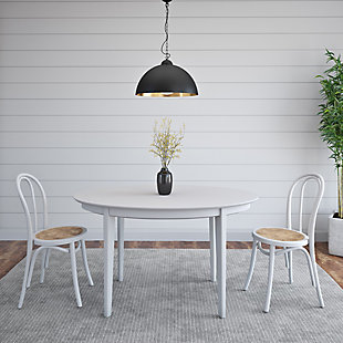 """Euro Style Atle 54""""x34"""" Oval Dining Table in Matte White, White, rollover"""