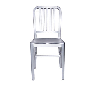 Euro Style Cafe Side Chair in Matte Aluminum - Set of 2, , large