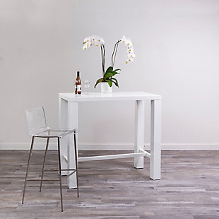 Euro Style Cilla Bar Stool in Clear with Brushed Nickel Legs - Set of 2, Clear/Brushed Nickel, rollover