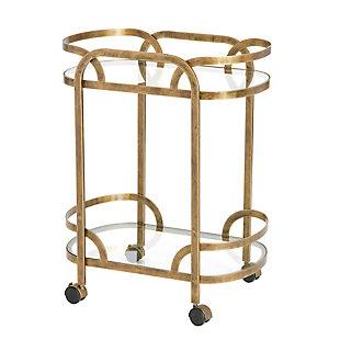 Creative Co-Op Olympus Oval Bar Cart, , large