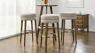 """Jennifer Taylor Home Vesper 30"""" Round Backless Bar Stool , Country Gray Linen, Country Gray, rollover"""