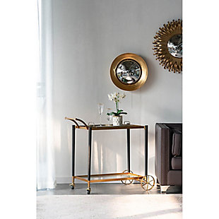 AB HOME Classic Chic Gold Serving Cart, , rollover