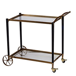AB HOME Classic Chic Gold Serving Cart, , large