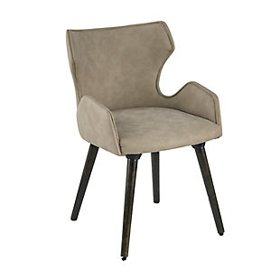 AB HOME Taupe Upholstered Dining Chairs (Set of 2), Beige, large