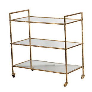 AB HOME Antique Gold Metal Cart, , rollover