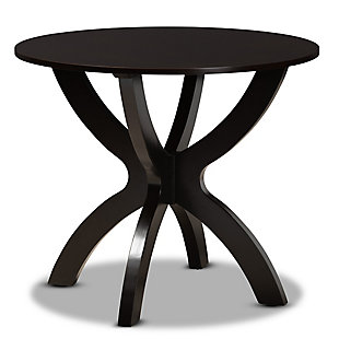Baxton Studio Baxton Studio Tilde Modern and Contemporary Dark Brown Finished 35-Inch-Wide Round Wood Dining Table, Dark Brown, large