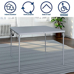 COSCO Fold-in-Half Card Table with Handle, , rollover