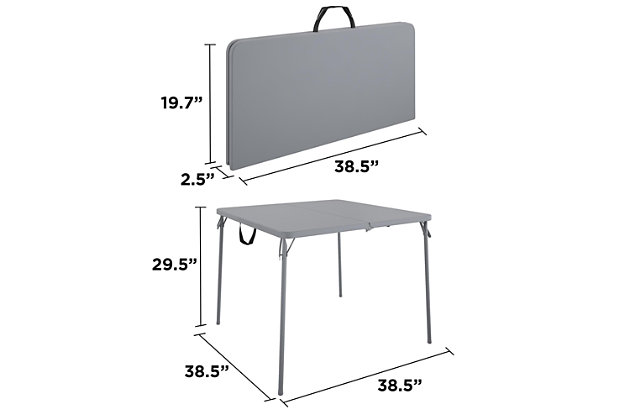 COSCO Fold-in-Half Card Table with Handle, , large