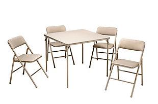 COSCO 5-Piece Folding Dining Set, , large