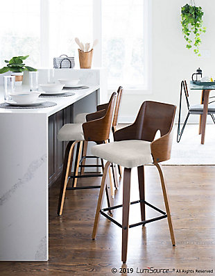 LumiSource Ariana Counter Stool - Set of 2, , rollover