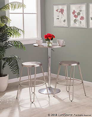 LumiSource Avery Metal Counter Stool - Set of 2, , rollover